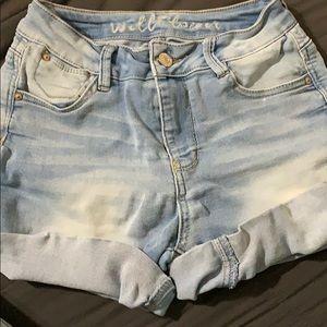 Light Wash shorts Mid Rise